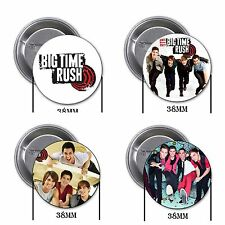 Big Time Rush - 4 chapas, pin, badge, button