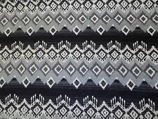 Geometric Aztec, Black & Grey Upholstery Fire Retardant Fabric