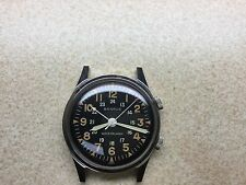 Benrus stainles Military alarm case dial hands only
