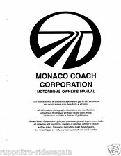 1996 Monaco Dynasty motorhome RV complete Owners Manual