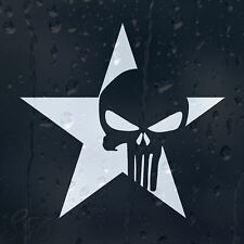 Militar Star ejército Punisher Skull coche decal pegatina de vinilo