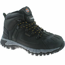 DICKIES MEDWAY BLACK SAFETY BOOTS SIZE UK 8 EU 42 FD23310 WATERPROOF HIKER