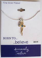 Hallmark Sincerely Born to Believe Cross Necklace Silver Plated Brass, $50