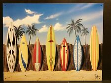 SURF BOARDS Starting Lineup Tin Sign Poster Arte Spiaggia barra in metallo Decorazioni da parete