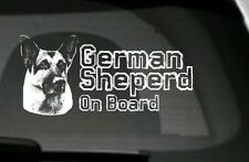 German Shepherd On Board, Car Sticker,High Detail,Great Gift For Dog Lover