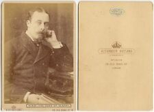 PRINCE LEOPOLD DUKE OF ALBANY QUEEN VICTORIAS 4TH SON BASSANO LONDON CAB PHOTO