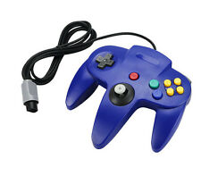 Blue Game Long Handle Controller Remote Joystick JoystickGame for Nintendo 64
