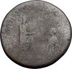 HADRIAN as Restorer of Gaul Sestertius RESTITVTORI GALLIAE Roman Coin i49178