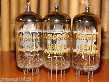 3 Vintage Amperex France 6GH8  Stereo Tubes 3550/3650 3550/3520 3420/3300