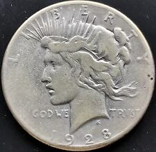 USA 1928 P Peace Dollar Philadelphia RAREST KEY DATE Silber Selten 4370