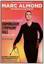 MARC ALMOND 2014 TOUR FLYER - CONCERT LIVE - GENUINE MUSIC GIG PROMO