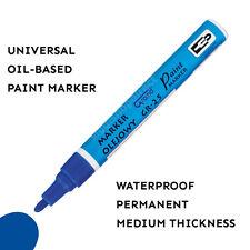 Blue Paint Marker Oil Based Waterproof Pen Wood Glass Plastic Tyre Rubber Medium