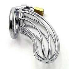New Stainless steel Male Chastity Device Dick Cage Cock Lock Ring Bondage Adult