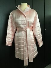 COCOON BNWOT LUXURY SILK PADDED PALE PINK DRESSING GOWN/LOUNGEWEAR SIZE MEDIUM
