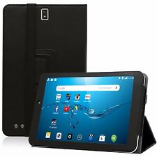 """Black PU Leather Case Cover Stand for Dragon Touch M8 Tablet and Other 8"""" Tablet"""