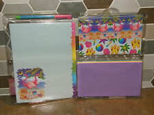 Vintage Lisa Frank Pink Flamingo Beach Stationery Pack Stickers Envelopes UNUSED
