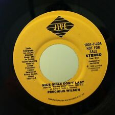 PRECIOUS WILSON Nice Girls Don't Last 45 PROMO DJ on JIVE VG+