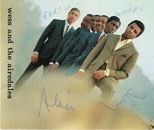 [CF2] CARTOLINA PROMOZIONALE WESS AND THE AIREDALES CON AUTOGRAFI ORIGINALI