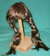 "doll wig dark brown 7,5"" to 8"" braids"