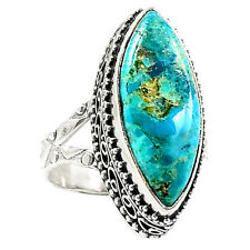 Artisan - Sleeping Beauty Turquoise 925 Silver Ring Jewelry s.7.5 SR214984