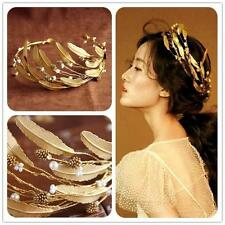 Queen Crown Tiara Wedding Bridal Gold Hair Accessories Jewelry Vintage Headband