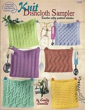 Knit Dishcloth Sampler Sandy Scoville Knitting Dishcloths Patterns ASN 1309