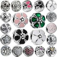 New Arrival Brand 925 Sterling Silver Diy Charms Bead Clip On European Bracelet