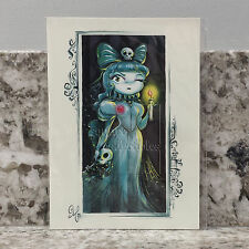 "Disney Haunted Mansion Bride ""For Better or... For Worse"" Postcard by Miss Mindy"