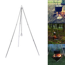 Portable Campfire Cooking Tripod Grill Grate Stand Camp Fire Pit Outdoor Camping