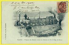 cpa VERSAILLES 5e Génie POLYGONE des MATELOTS Ecole CHEMINS de FER TRAIN en 1904