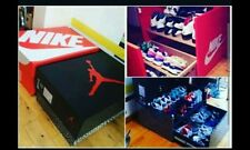 HOW TO BUILD CUSTOM MADE JORDAN NIKE ETC WOOD DRAWER  SHOE STORAGE BOX
