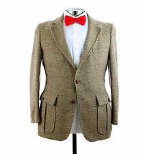 Vtg Norfolk Tweed Wool Hunting Sport Coat Jacket Blazer Sz 38/40