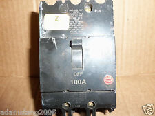 General Electric GE TEY 3 pole 100 amp 480/277v TEY3100 Circuit Breaker  CHIPPED