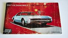 Original 1967 Oldsmobile Toronado Owner's Manual