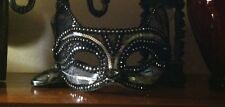 Mardi Gras Venetian Lace Cat Mask Whiskers Masquerade /Costume/Halloween Cat Eye