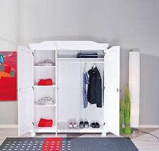 Kleiderschrank Schlafzimmerschrank Schlafzimmer Landhausschrank weiß 3-türig NEU