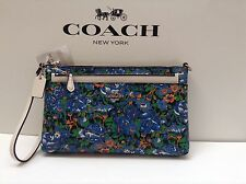 NWT. Coach Rose Meadow Pop Up Pouch Large Wristlet Bag F57987