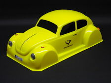 VW MAIL BEETLE 1:10 RC CAR BODY IN YELLOW, 7 3/10in WIDE FOR TAMIYA ETC. 11002