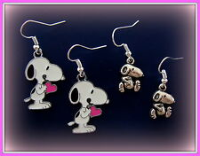 TWO Pair!  Peanut's SNOOPY Earrings - Charlie Brown's Snoopy the Dog Jewelry