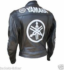 MOTOGP YAMAHA MOTORBIKE MENS LEATHER JACKET BIKER MOTORCYCLE LEATHER JACKET