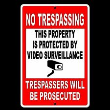 Property Protected By Video Surveillance Warning Security Camera METAL Sign CCTV
