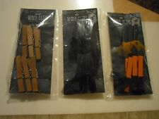 New ! 6 Counts Mini Wood Clips Nature Black Orange and Black