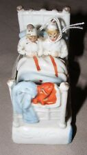 ANTIQUE FAIRING GERMAN FIGURINE GOOD NIGHT STAFFORDSHIRE? COUPLE IN BED