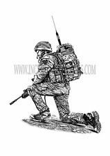 'Overwatch' , Herrick, Para, British Army, soldier, military art print