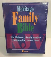 Heritage Deluxe Family Bible KJV New White World Bible Red Letters