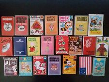 Vintage Card Game Lot- Busy Bee, Crazy Eights, Snap, Animal Rummy, Hearts & More