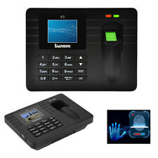 "New A5 2.4"" TFT Fingerprint Attendance Time Clock Employee Access Control System"