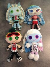 Monster High Abbey Boominable Ghoulia Deuce Lagoona Blue Plushes set of 4