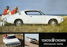 Toyota Crown 2600 Hard Top Coupe 1971-72 UK Market Leaflet Sales Brochure
