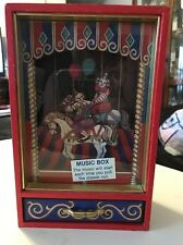 Vintage Otagiri Galloping Clown Music Box